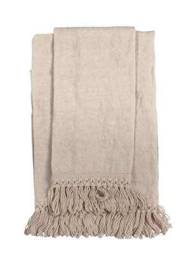 ONCE MILANO - HANDMADE SET OF 2 LINEN TOWELS - BEIGE