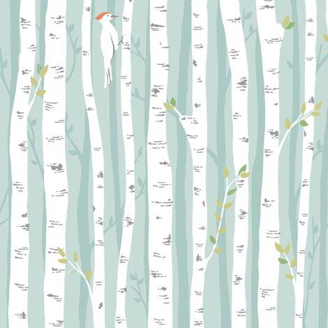 Birch Forest fabric by pattysloniger on Spoonflower - custom fabric