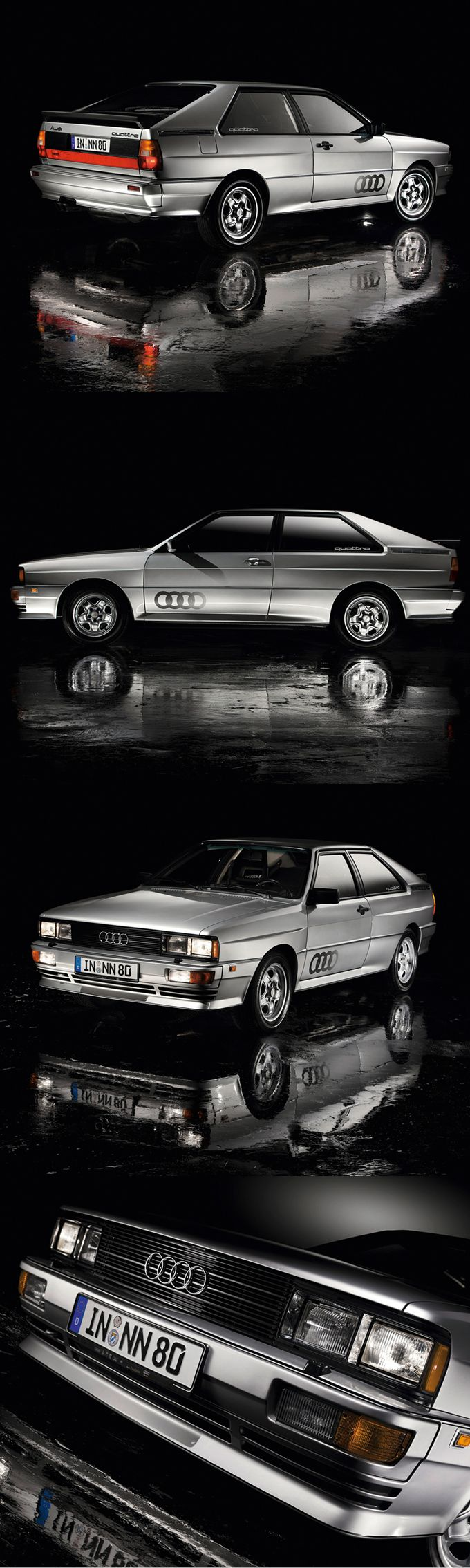 Dieses und weitere Luxusprodukte finden Sie auf der Webseite von Lusea.de 1980 Audi Quattro / 197hp 2.1l L5 / silver / Germany / Ur-Quattro