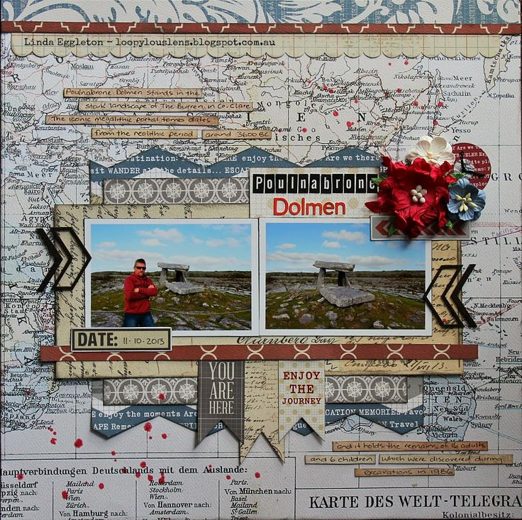 All About Scrapbooks - Teresa Collins Far & Away by Linda Eggleton