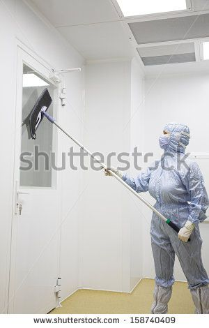 biotechnology researcher in protect wear - stock photo
