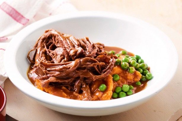 Use your slow-cooker to make melt-in-the-mouth beef in sweet barbecue sauce.