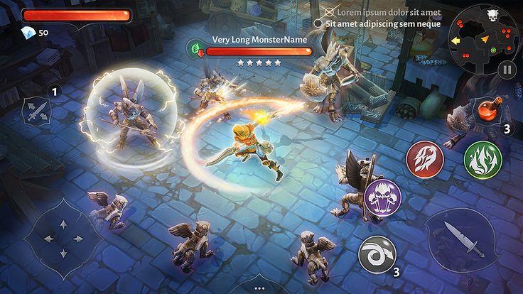 Dungeon Hunter 5 HUD by Panperkin