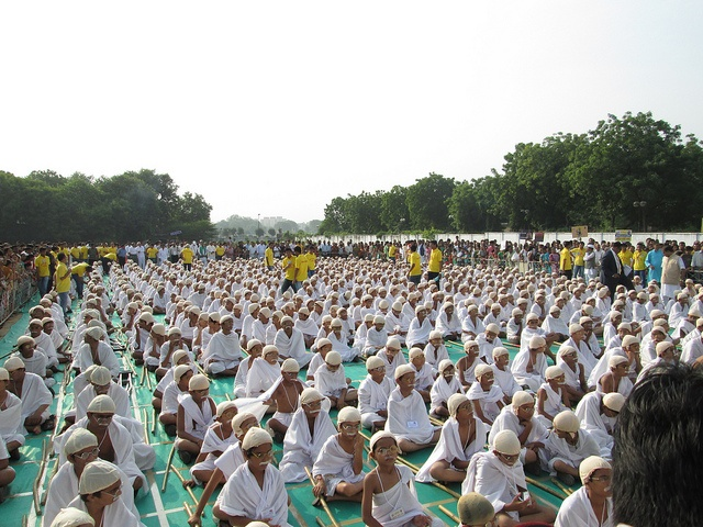 Most People Dress as Mahatma Gandhi World Record 2012 in Ahmedabad - 2nd October 2012 -  for more details visit http://www.worldrecordsindia.com