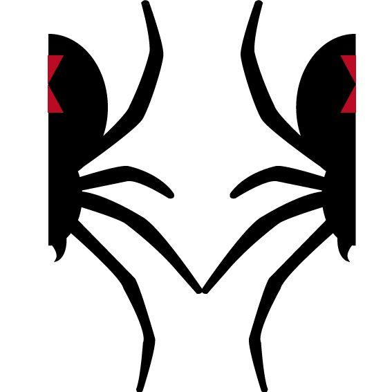 Araña Realizada en Illustrator luego de la bocetación.
