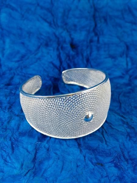 SILVER FILIGREE BRACELET -  This intricately handcrafted pair of silver filigree bracelet can be worn with any outfit. The bracelet is free size. Product details: Silver Filigree Bracelet BG013. Weight 30 grams approx. Free size. Price for 1 piece. ₹ 3,300.00