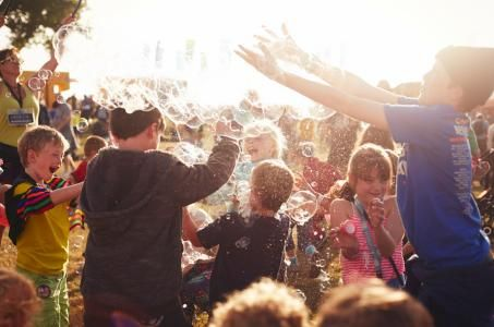 Kids activities at Camp Bestival