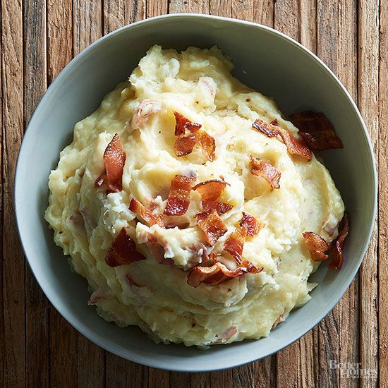 Slow cooker mashed potatoes get a nutritional boost from the addition of cauliflower and a flavor boost from white cheddar cheese, while buttermilk helps keep it all creamy./