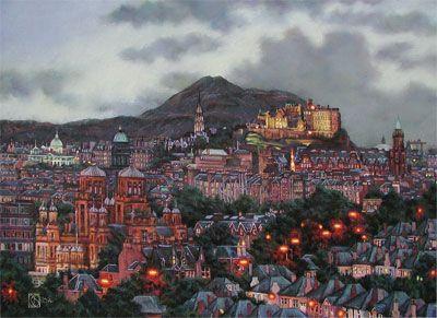 Early Evening Over Arthur's Seat & Edinburgh Castle