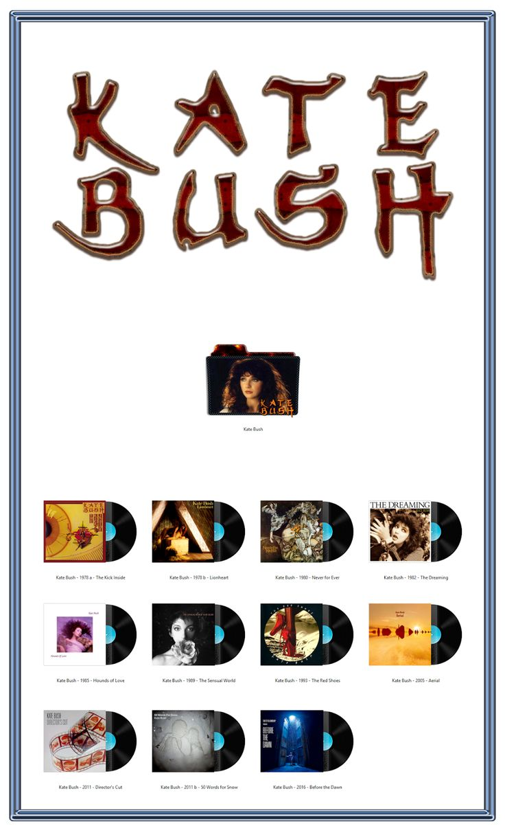 Album Art Icons: Kate Bush Discography Icons (ICO & PNG)