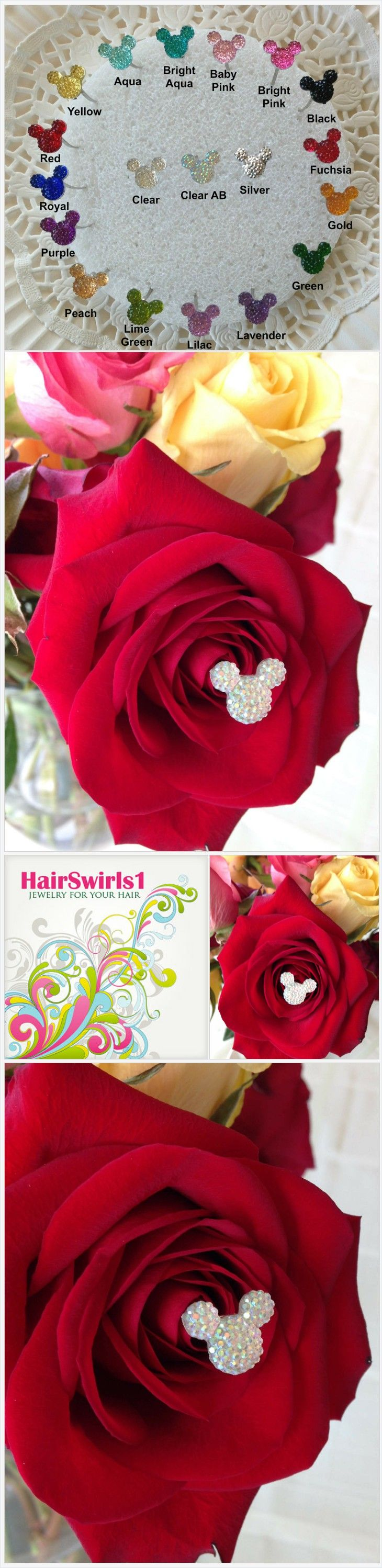 6 Hidden Mickey Disney Inspired Mouse Ears in your Bouquets for Themed Wedding Flower Picks Floral Pins Flower Posts Clear AB Bridal Flowers https://www.hairswirls.com/listing/506346684/6-hidden-mickey-disney-inspired-mouse