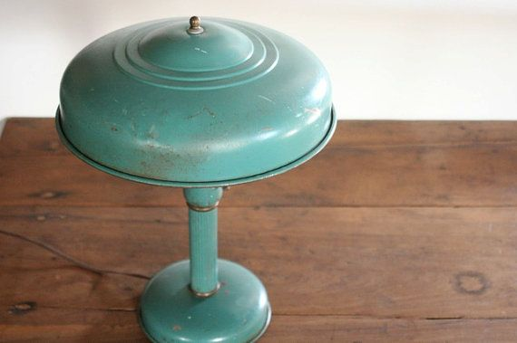Awesome Vintage Teal Desk Lamp