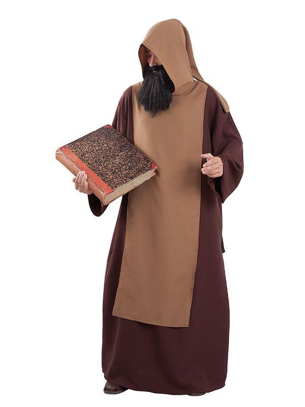 El disfraz de monje medieval hombre adulto, incluye tunica y casulla en DisfracesMimo.com