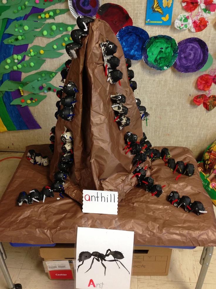 Egg carton Ants for preschoolers to create.