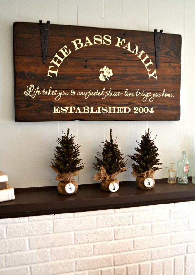 Family sign || by Aimee Weaver Designs