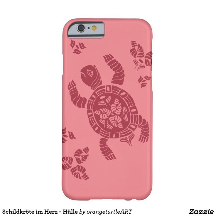 Schildkröte im Herz - Hülle Barely There iPhone 6 Hülle