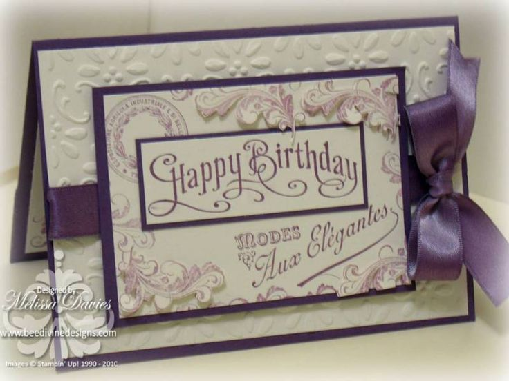 Happy birthday with established elegance by scrappedon - Cards and Paper Crafts at Splitcoaststampers