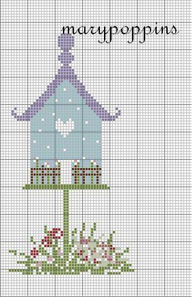 atmosfera di casa: bird house per ogni mese....