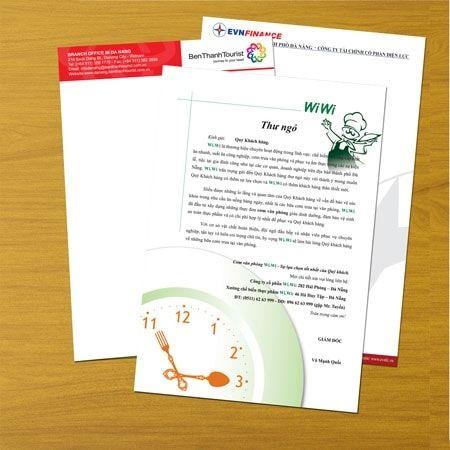 mẫu letterhead công ty