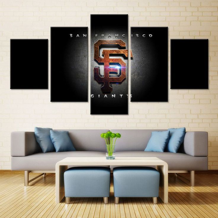 5 panel oilers hockey framed canvas print wall art home decor find this pin and more on san francisco