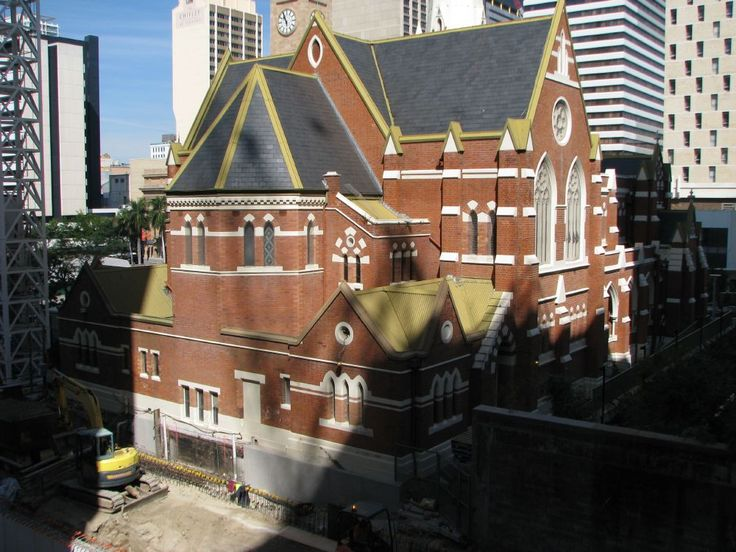 Photo taken in 2008 by Brisbane City Heritage Staff before the current 9 storey Wesley House was built alongside.