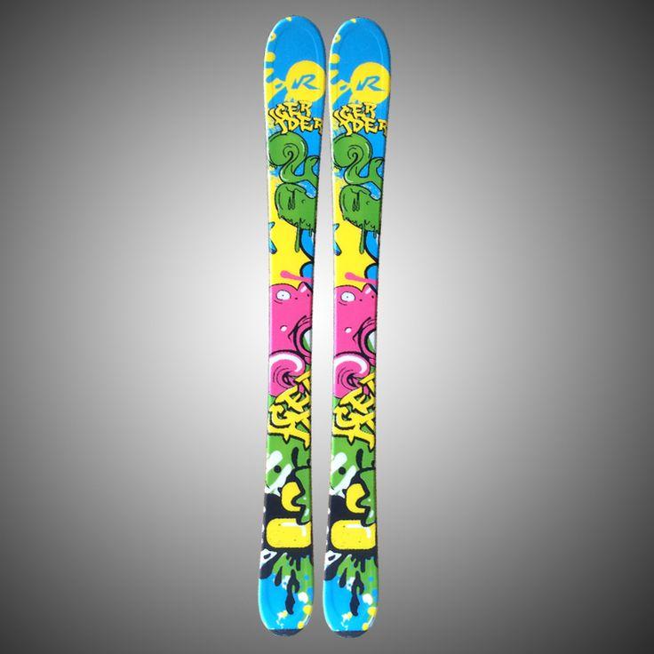 Double Plate for children Snowboard Multi-color Cartoon Outdoor-sport Skifahren Bord 80cm 100cm 110cm