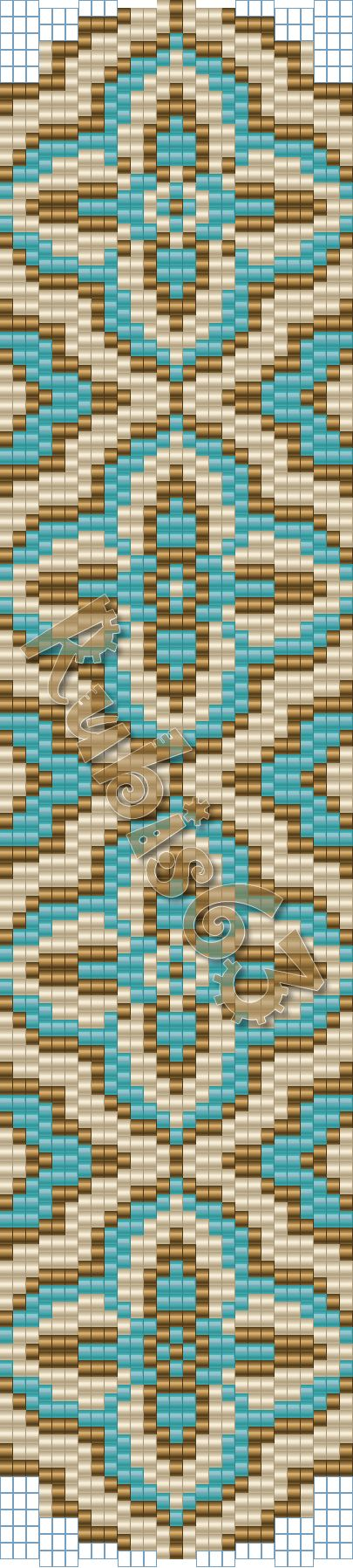 Beading pattern, 3 bead peyote