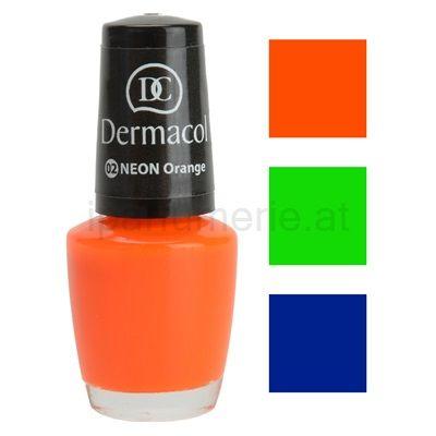 Neonfarbener Nagellack DERMACOL NEON GLOW | iparfumerie.at