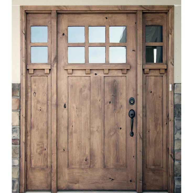 Krosswood Doors 30 In X 80 In Rustic Knotty Alder 2: Krosswood Doors 64 In. X 96 In. Craftsman Knotty Alder 2