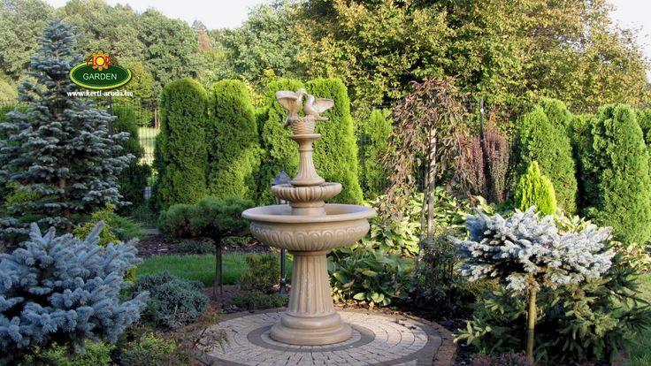 Csodálatos kert. Gratulálok a kedves vásárlónak igazán megtalálta a fókuszpontját a kertjének.  Szökőkútjaink nagyon különlegesek és egyediek. http://www.kerti-aruda.hu/