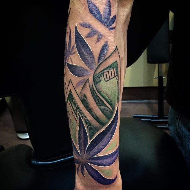 55 best tattoos images on pinterest tattoo ideas weed for Weed tattoo images