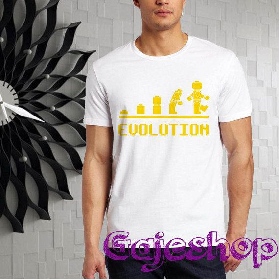 legoman evolution men tshirt  size SMLXL2XL3XL4XL5XL by gajeshop