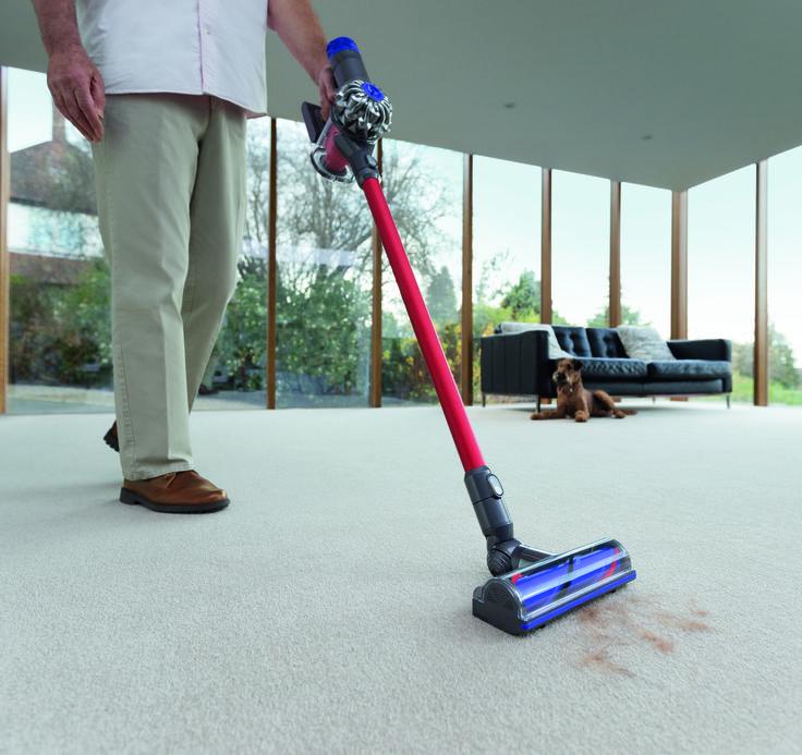 Dyson V6 total clean:Resultados excelentes y comodidad. #aspiradora #tecnologia #hogar #limpieza #dyson