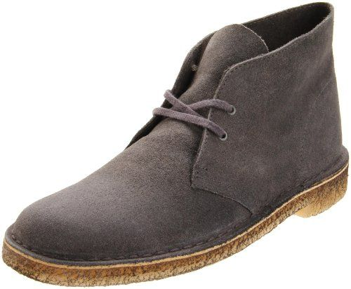 Online Exclusive! In 1950 a soft, floppy, ankle-high boot with military inspiration stepped into the fashion scene and became an icon. A timeless classic almost unchanged since its launch, the Clarks Desert Boot continues to defy the sands of time and ranks amongst the most iconic shoes ever crafted.  http://shopping.uvb.me/clarks-originals-mens-desert-boot/