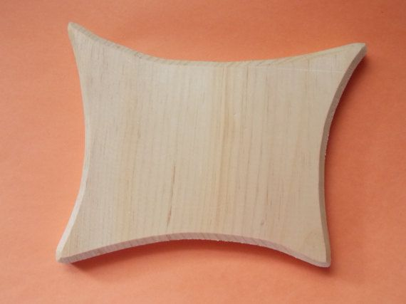 Rectangle Fancy Unfinished Wood Plaque