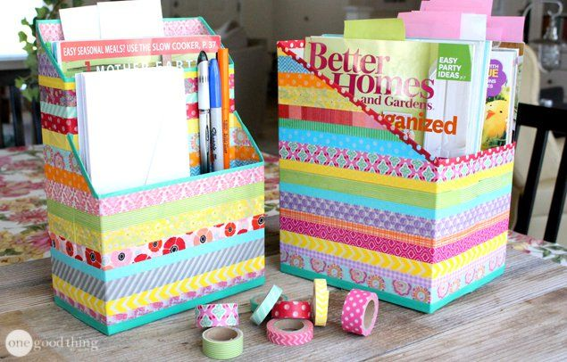Cereal box organizer - Really must do this!