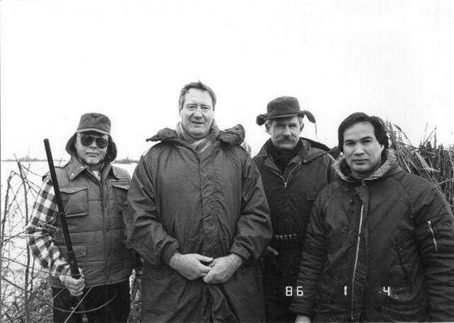 The Hunters Vinkenveen, Rinus Schulz, Jon Bluming and Willy Sibbald