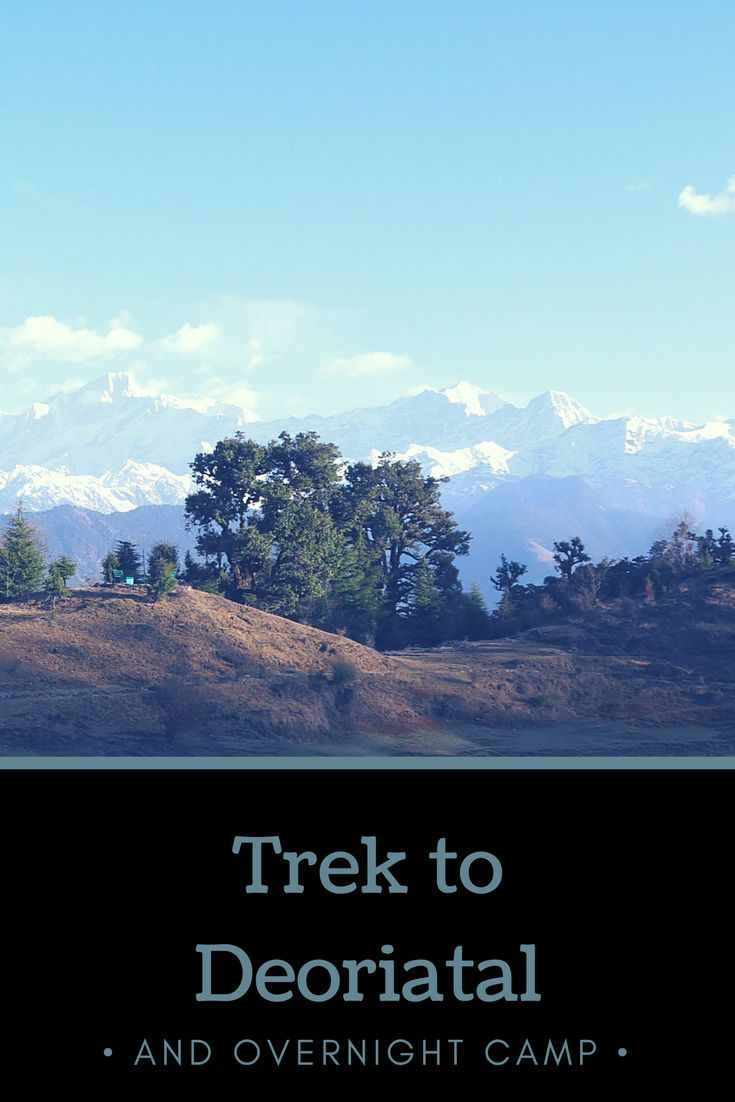 Amazing trek to Deoriatal lake in Uttrakhand, India.