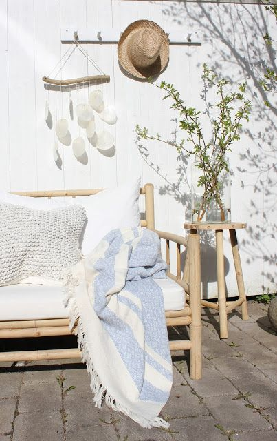 bright white patio