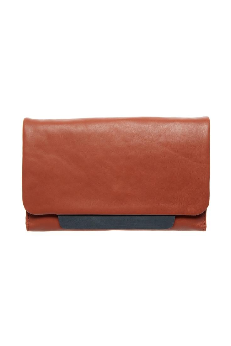 Rye Tab wallet in red clay by Elk Accessories