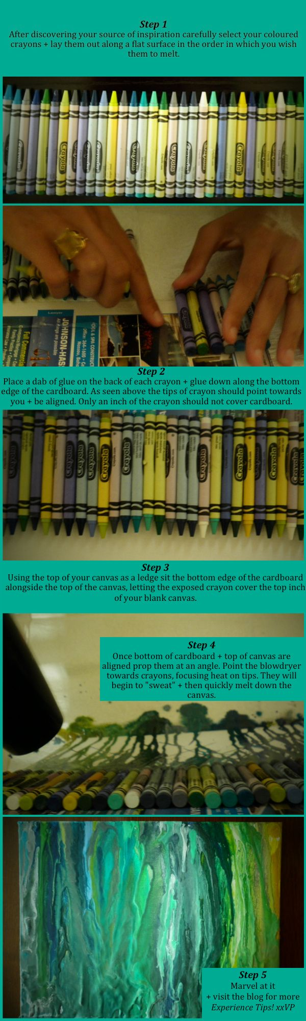 How to make melted crayon art...