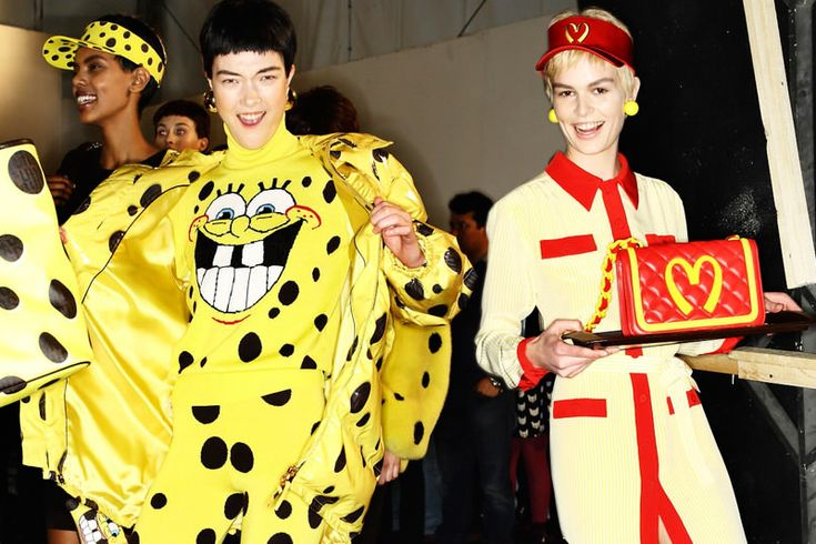 Check out what Jeremy Scott is serving up at Moschino