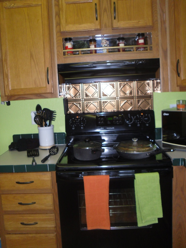 78 Images About Stove Backsplash On Pinterest Tin Tiles