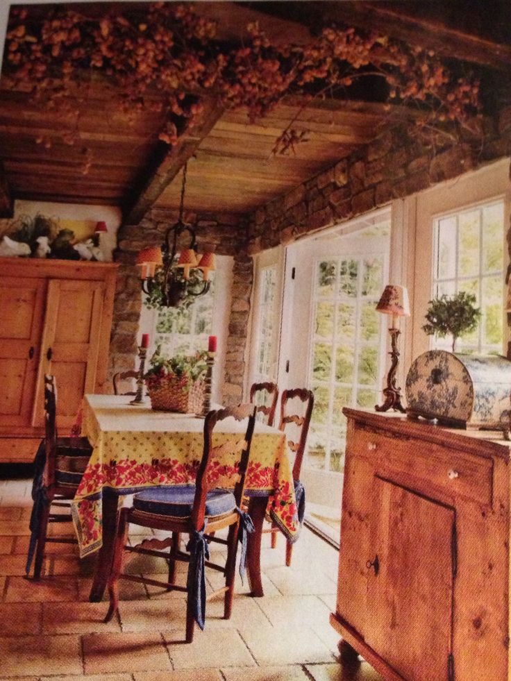 French Country Style Magazine Part - 23: Norma Ainslieu0027s Refined French Country Kitchen. To Create The Ceiling, She  Found Old Barn