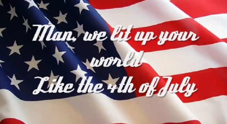 """Listen to Toby Keith's powerful words in """"Courtesy Of The Red, White, And Blue. We're all proud to be American and are grateful for the freedom our country gives us!"""
