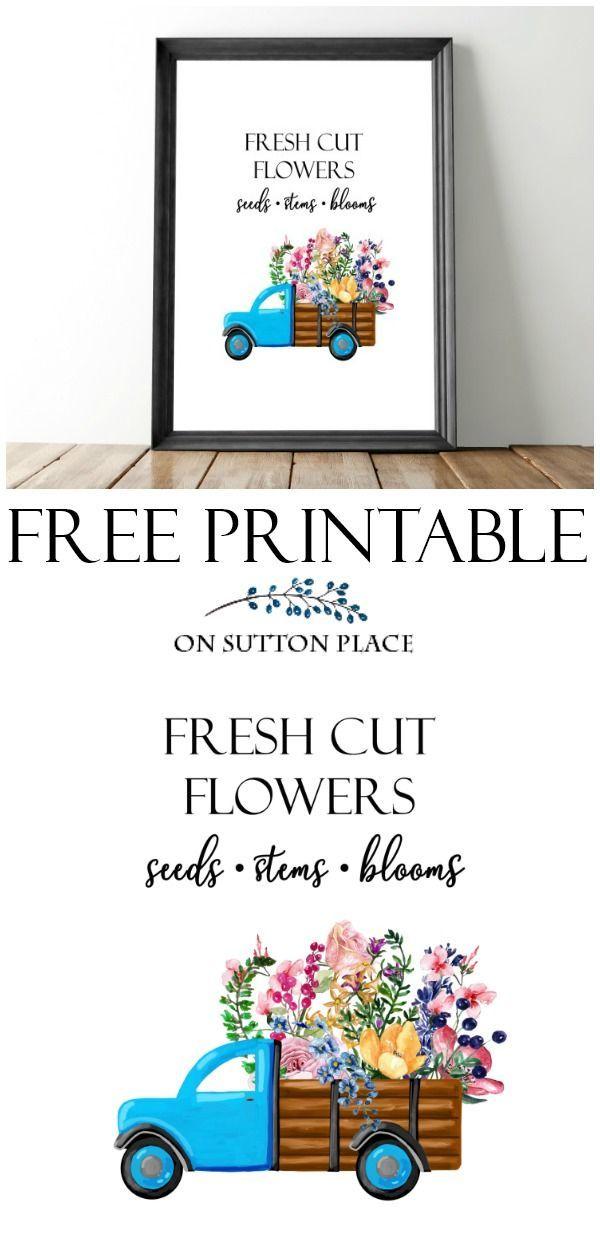 Free Printable Wall Art Flowers - Easy Craft Ideas