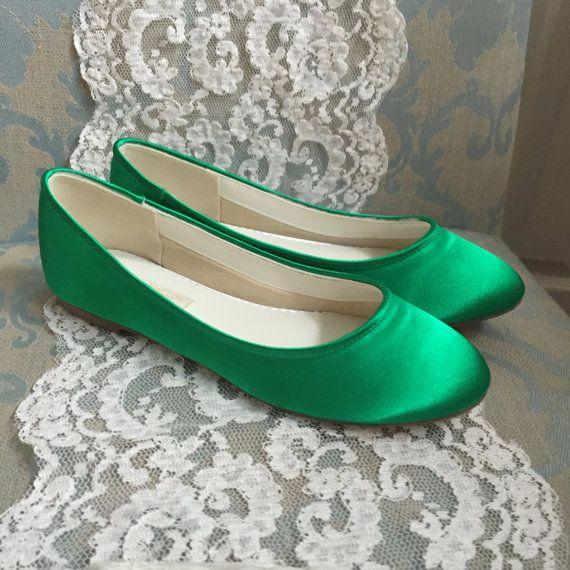 Verde de la boda zapatos - verde esmeralda - verde pisos - pisos de Ballet verde - esmeralda verde - verde de la boda pisos pisos de Ballet verde esmeralda