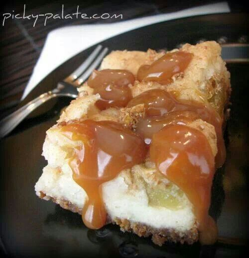 Caramel apple cream cheese cookie bars | Favorite Recipes | Pinterest