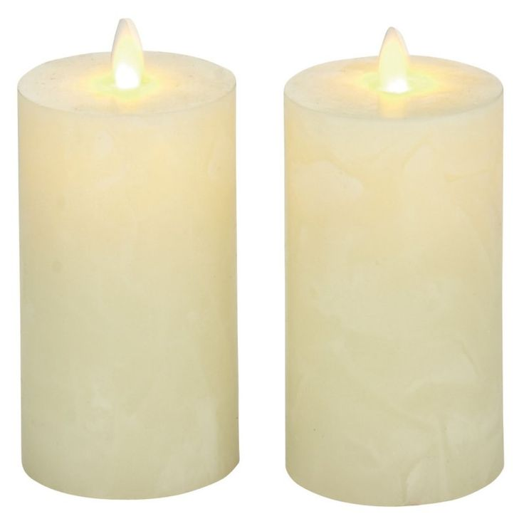 DecMode Flameless Candle with Remote - Set of 2 - 54884