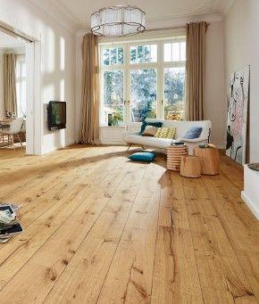MEISTER Lindura Holzboden HD 300 Eiche rustikal gebürstet 8410 Landhausdiele 1-Stab mit Fase natur-geölt